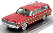 wonderful KESS-modelcar FORD LTD COUNTRY SQUIRE WAGON 1968 - 1/43 - red/wood