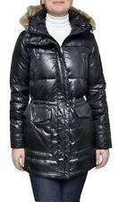 Ralph Lauren Faux Fur Hood Down Jacket Puffer Parka Coat Black XS Nwt $350