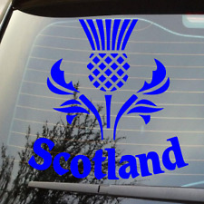 "NEW 5"" SCOTTISH SCOTLAND THISTLE LOGO VAN CAR STICKER DECAL VARIOUS COLOUR"