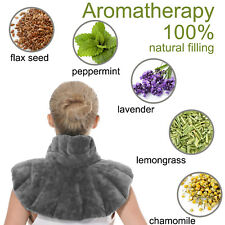Aroma Season Heated Neck Warmer Shoulder Heating Pad Microwaveable Herbs Grey