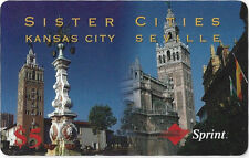 TK Telefonkarte/Phonecard Sprint 5$ Sister Cities Wrong Access 800-800-1717