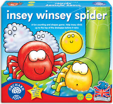 Orchard Toys Insey Winsey Spider Baby/Toddler/Child Board Game Counting BNIB