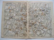 stampa antica MAPPA CARTA TOPOGRAFICA STRADARIO EMILIA ROMAGNA BOLOGNA 1930