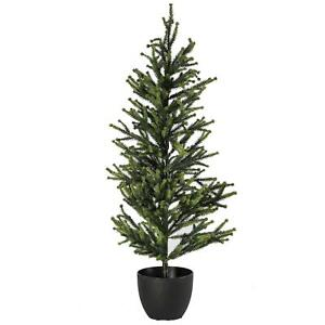 Artificial Realistic Potted Christmas Tree Festive Decoration 80cm Green