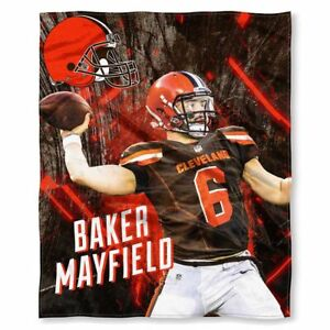 CLEVELAND BROWNS BAKER MAYFIELD NFL NORTHWEST SILK TOUCH THROW 50 X 60 INCHES
