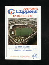 Columbus Clippers--1994 Pocket Schedule--Majestic Paint Centers--Yankees
