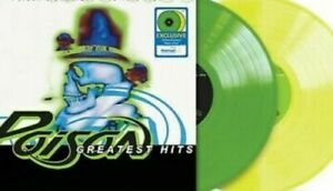 Walmart Exclusive Poison's Greatest Hits 1986-1996 Yellow & Green Vinyl 2 LP's