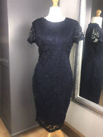 AX Paris Dress Navy Midi Lace Sz 16 New With Tags Christmas Party Night Out