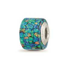 Reflection Beads Sterling Silver Synthetic Opal Mosaic Bead