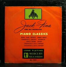 "JACK FINA piano dance classics 10"" VG+ MG 25017 Mercury 1950 Mono USA"
