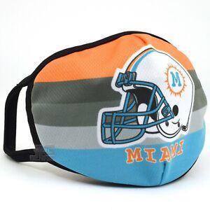 Miami Fashion Cloth Face Mask Orange Aqua Football team color Helmet Washable