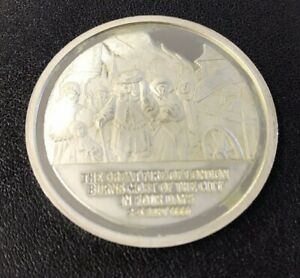 History of English Speaking People Sterling Silver Coin - Great Fire of London