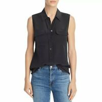 EQUIPMENT 100% Silk Sleeveless Slim Signature Shirt Blouse Top Medium $195