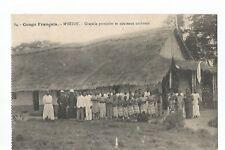 CONGO FRANCAIS , M'BETOU , CHAPELLE PROVISOIRE ET NOUVEAUX CONFIRMES
