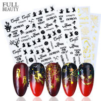 Nail Art Decorations Halloween Theme Nail Sticker  DIY Manicure Transfer Decals