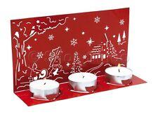1 x Red Metal Natalizio Natale Festive Decorazione per Soggiorno per candele tealight