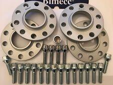 ALLOY WHEEL SPACERS BIMECC 10mm SILVER X 4 + M14X1.25 BOLTS LOCKS FOR BMW 66.6