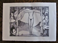 Nackte Tänzerin in einer Bar Benno Huth Lithographie Nr.2