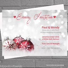 Personalised Winter Wedding Evening Day Reception Invitations x 12 +env H0268