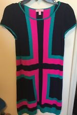 Lilly Pulitzer Pink And Navy Sweater Dress Size Large