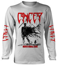 Cancer 'Death Shall Rise' (White) Long Sleeve Shirt - ¡NUEVO Y OFICIAL!