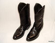 Laredo Cowboy Boots Mens 9.5 EW Black Trucker oil chemical resistant 4240