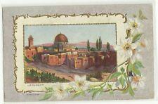Judaica Palestine Old Beautiful Postcard Jerusalem Temple Area 1912
