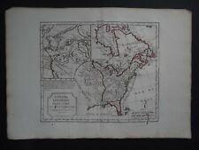 1795 VAUGONDY  Atlas map  UNITED STATES AMERICA - LOUISIANA  CANADA  Etats Unis
