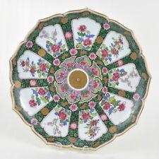 Grand plat en porcelaine polychrome de Samson style Chinoiserie Ø 42 cm