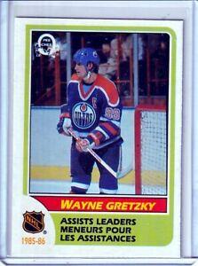 1986-87 O-Pee-Chee #259 Wayne Gretzky LEADERS  - Edmonton Oilers - BV: $6