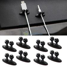 8 X Car Wire Cord Clip Cable Holder Tie Fixer Organizer Drop Adhesive Clamp New