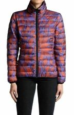 Just Cavalli Women's Multi-Color Reversible Lightweight Parka Jacket US S IT 40