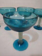 Avalos Glass c1960/'s Mexican Art Glass Vintage Hand Blown Martini Pitcher Cobalt Blue