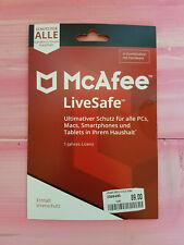 McAfee LiveSafe 2019 Unbegrenzt Online-Schutz 1 Jahr.