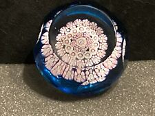 Whitefriars Art Glass Millefiori Faceted Paperweight Butterfly