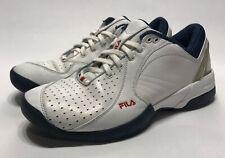Vintage 90s FILA Sample Grant Hill Basketball Shoe White Blue Rare Mens Size 9