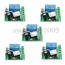 5pcs 433MHz 1CH Channel Wireless Relay Remote Control Switch Receiver Module DIY