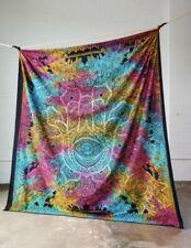Indian Tapestry Wall Hanging Mandala Throw Fatima Hamsa Hand Multicoloured Boho