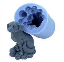 3D Dog Soap Mould Flexible Silicone Cookie Mold Chocolate Mould Polymer R1114