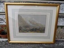 Ancienne gravure Savoie Mont Blanc From Chamouni Chamonix polychrome