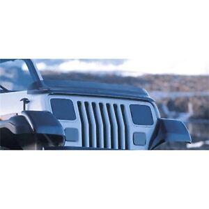Rugged Ridge Bug Deflector Smoke for 87-06 Jeep Wrangler - rug11350.01