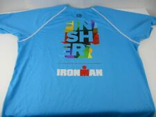 Ironman Triathlon FINISHER Mens Athletic Shirt Large Light Blue