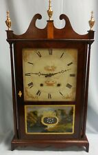 ELI TERRY Pillar & Scroll Mahogany MANTEL/SHELF CLOCK circa 1818-24