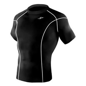 Take Five Mens Skin Tight Compression Base Layer Running Shirt S~2XL Black 014