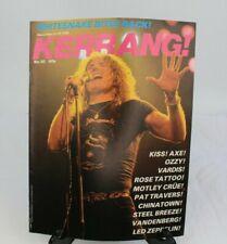 Vtg Kerrang Dec 1982 No 30 Magazine 80s Whitesnake David Coverdale Motley Crue