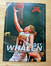 """Lindsay Whalen Minnesota Gopher All Time Leading Scorer 5""""x7"""" Recognition Card"""