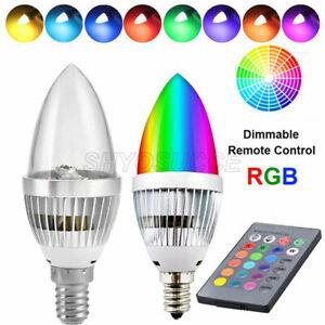 3W E12 E14 Smart RGB LED Bulb 16 Color Changing Candle Light Lamp Remote Control