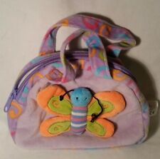 Kellytoy Zippered Plush Purse Decorated with a Colorful Plush Butterfly, 2011