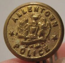 Old Metal Brass Allentown PA Police Sewing Button marked Wanamakers