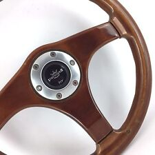 Personal (Nardi) wood rim car steering wheel. 365mm. Genuine. Rare classic retro